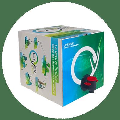 Bag-in-Box Lessive naturelle belge Laver Vert