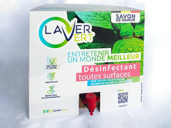 Désinfectant toutes surfaces 100% naturel Laver Vert