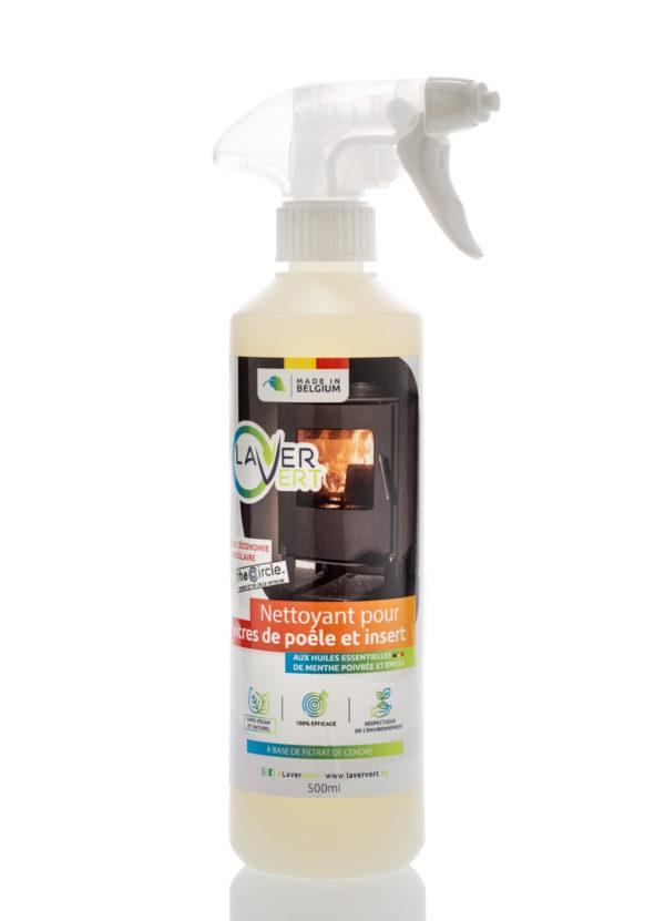 Spray nettoyant vitre de poêle et insert Laver Vert 500ml
